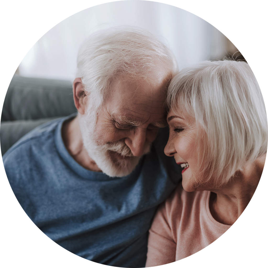 couple happy to have received their pension